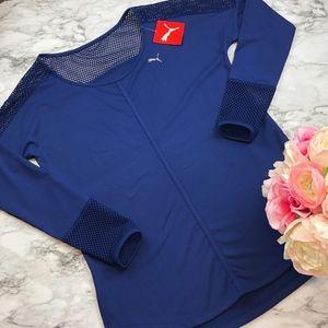 {NEW} Puma Explosive Mesh Detail Athletic Shirt